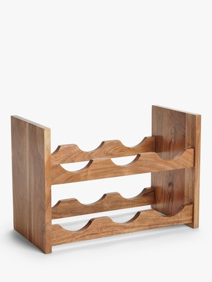 John Lewis & Partners Classic Acacia Wood Wine Rack, 6 Bottle