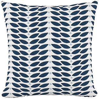 One Kings Lane Petal Cotton Pillow - Navy