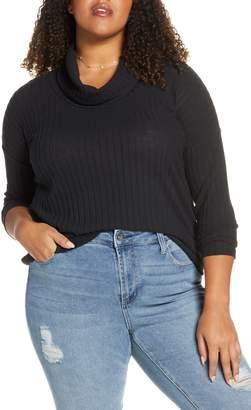 BP Cozy Ribbed Turtleneck Pullover