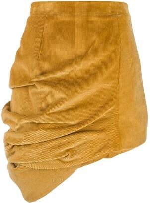 Y/Project corduroy asymmetric skirt