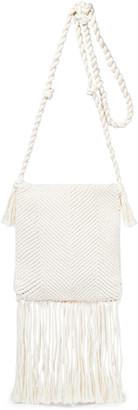 Joseph Fringed Woven Cotton Shoulder Bag