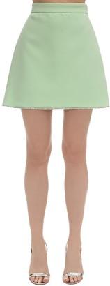 Miu Miu Faille Cady Mini Skirt W/ Crystals