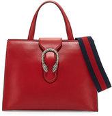 Gucci Dionysus Medium Web-Stripe Top-Handle Bag, Hibiscus Red