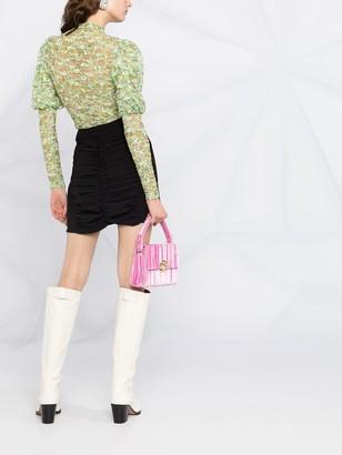 Ganni Ruched Mini Skirt