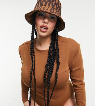 Ivy Park adidas x Plus three stripe bodysuit in wild brown