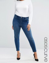 Asos Lisbon Midrise Skinny Jeans In Abbie Wash