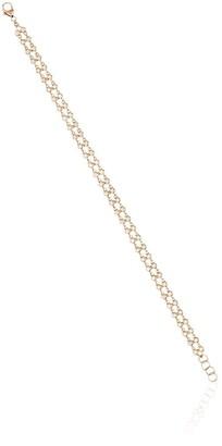 Dana Rebecca Designs 14kt Rose Gold And Diamond Double Row Bracelet
