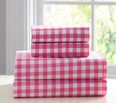 Pottery Barn Kids Organic Check Sheet Set