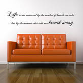 Spin Collective Breath Away Wall Sticker Quote