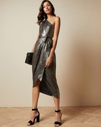 Ted Baker GABRIA One shoulder draped midi dress