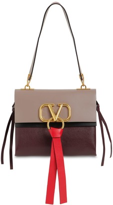 Valentino Sm V Ring Box Leather Shoulder Bag