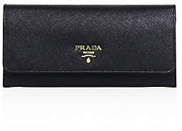 Prada Women's Saffiano Leather Continental Flap Wallet