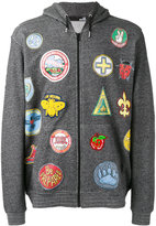 Love Moschino multi patch hoodie - men - Cotton - S