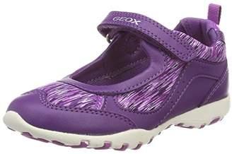 Geox Girls' Jr Freccia A Ankle Strap Ballet Flats, (Violet/Purple)