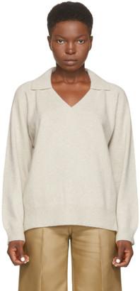LOULOU STUDIO Beige Wool Sperone Sweater