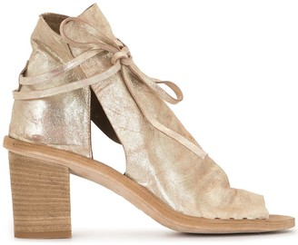 Officine Creative Metallic Wrap Sandals