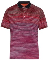 Missoni Dégradé Multi-stripe Cotton Polo Shirt