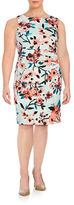 Ivanka Trump Plus Ruched Floral Dress