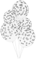 My Little Day Confetti Printed Balloons, Silver - Set of 5