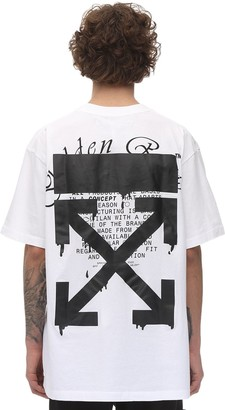 Off-White Off White PRINT DRIPPING ARROW OVER JERSEY T-SHIRT