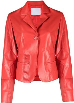 Drome Polished-Finish Cropped Jacket