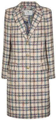 Etro Checked tweed coat