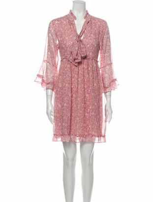 MISA Floral Print Mini Dress w/ Tags Pink Floral Print Mini Dress w/ Tags