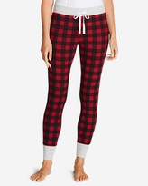 Eddie Bauer Women's Stine's Favorite Waffle Buffalo Check Sleep Pant