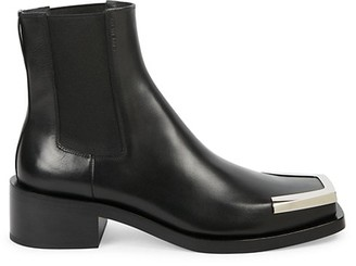 Givenchy Austin Metal Square Toe Leather Chelsea Boots