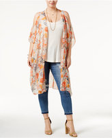 American Rag Trendy Plus Size Cold-Shoulder Kimono, Only at Macy's