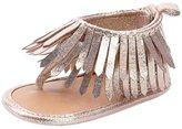 Doinshop Baby Girls Fashion Tassels Flip-flop Sandals Soft Sole Crib Shoes