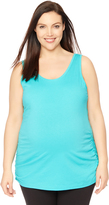 Motherhood Plus Size Side Ruched Maternity Tank Top