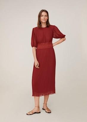 MANGO Elastic waist dress