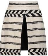 Alice + Olivia Daysi Layered Woven Cotton-Blend Mini Skirt