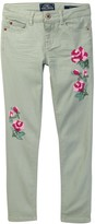 Lucky Brand Isla Floral Embroidered Jean (Big Girls)