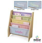 Kid Kraft Personalized Pastel Sling Book Display