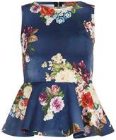 Dorothy Perkins Blue floral peplum top