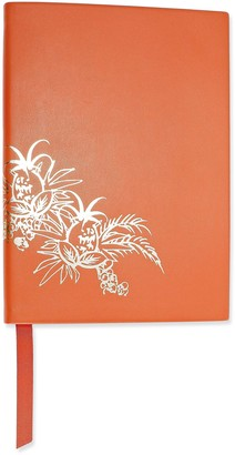 Smythson Soho Metallic Printed Leather Notebook