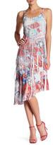 Komarov Asymmetrical Ruffle Dress