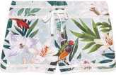 Juicy Couture Tropical-print cotton-blend jersey shorts