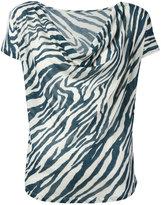 Majestic Filatures striped pattern top - women - Silk/Cotton/Modal - 2