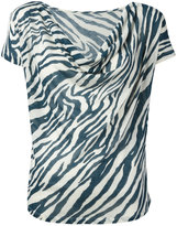 Majestic Filatures striped pattern top