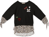 Speechless Animal-Print Mixed Media Shirt, Big Girls (7-16)