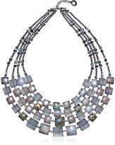 Antica Murrina Veneziana Atelier Byzantium - Grey Murano Glass & Silver Leaf Choker