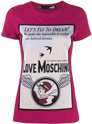 Love Moschino printed T-shirt