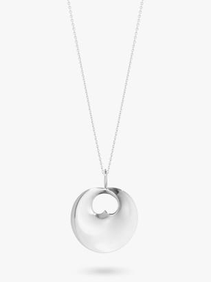 Georg Jensen Hidden Heart Pendant Necklace, Silver