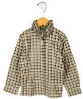 Papo d'Anjo Girls' Plaid Top