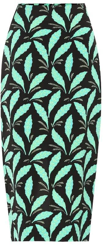 Diane von Furstenberg Printed crepe pencil skirt