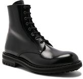 Alexander McQueen Leather Combat Boots in Black.