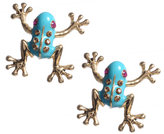 Betsey Johnson Blue Frog Stud Earrings